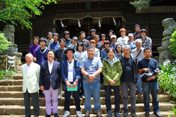 写真前列、左が柏井信二EP・隣が相川弘隆P・二列目右端が藍澤幸久P。この3人が現場を仕切ってくれた。
