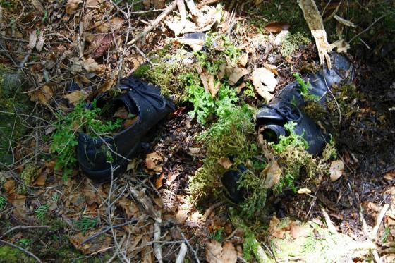 遺留品の中で、一番不気味だったのは靴だった。